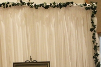 27' Ivy Garland/While Tulle $1.50