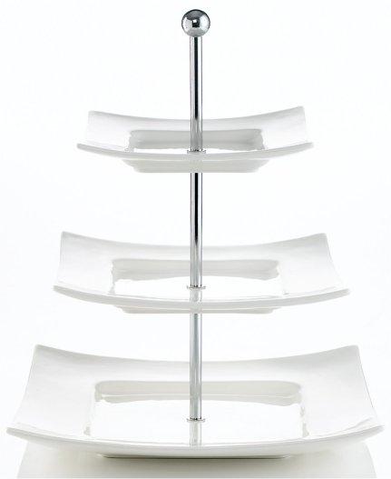 """3 Tier Porcelain / 14"""" H X 11.5"""" W"""